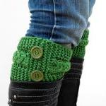 Knit Green Boot Toppers, K..